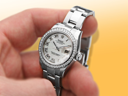 Rolex Oyster Perpetual DateJust Steel, White Gold & Diamonds Ladies Watch
