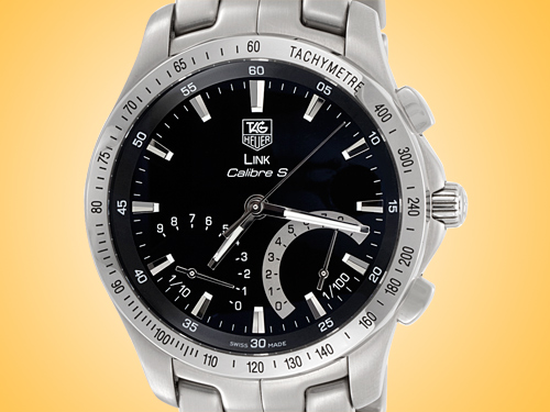 TAG Heuer Link Calibre S Chronograph Stainless Steel Men's Watch CJF7110.BA0592