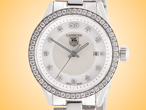 TAG Heuer Carrera Ladies Stainless Steel Quartz Watch WV1413.BA0793
