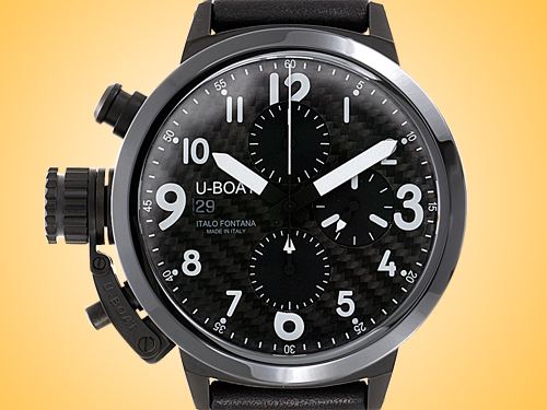 U-BOAT Flightdeck Automatic Chronograph Ceramic / Black PVD Stainless Steel Men's Watch Model 7116