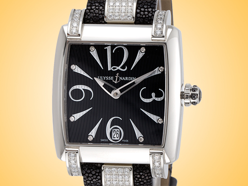 Ulysse Nardin Caprice Automatic Black Dial Stainless Steel / Diamonds Automatic Ladies Watch 133-91C/06-02