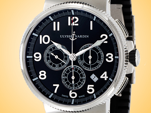 Ulysse Nardin Marine Chronograph Manufacture Stainless Steel Men's Watch 1503-150-3/62