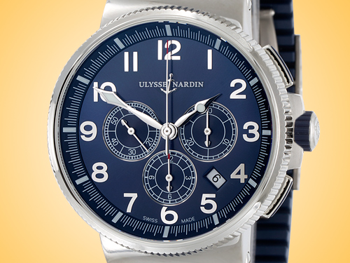 Ulysse Nardin Marine Chronograph Manufacture Stainless Steel Men's Watch 1503-150-3/63