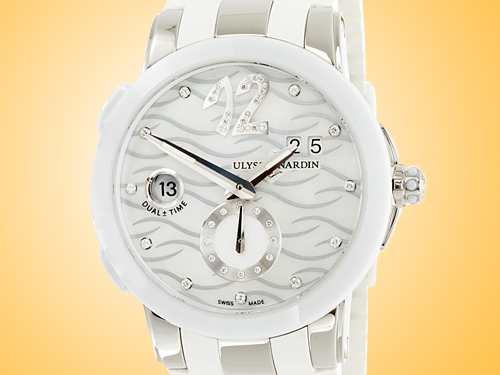 Ulysse Nardin Executive Dual Time Lady Stainless Steel Ladies Watch 243-10-3/691