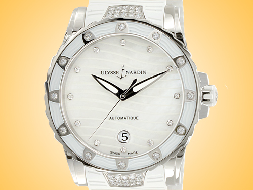 Ulysse Nardin Lady Diver 40 mm Stainless Steel / Diamonds Ladies Watch 8153-180E-3C/10