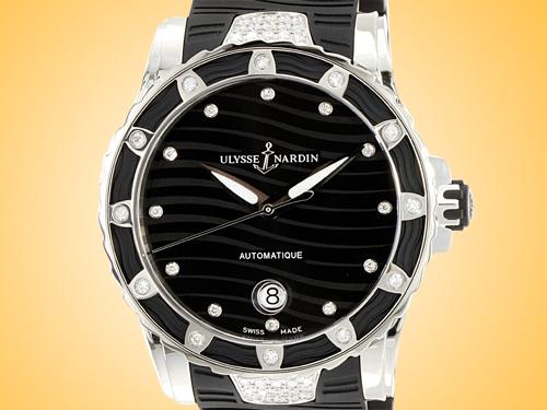 Ulysse Nardin Lady Diver 40 mm Stainless Steel / Diamonds Ladies Watch 8153-180E-3C/12