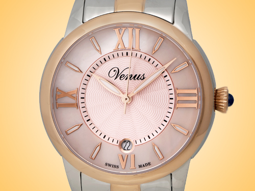 VENUS of Switzerland Impetus Collection Date Ladies Watch Model: VE-3116A8-4R6-B8
