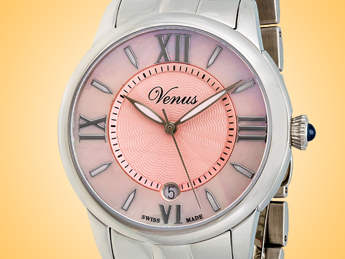 VENUS of Switzerland Impetus Collection Date Ladies Watch Model: VE-3116A1-4R6-B1