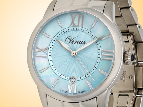 VENUS of Switzerland Impetus Collection Date Ladies Watch Model: VE-3116A1-4R9-B1