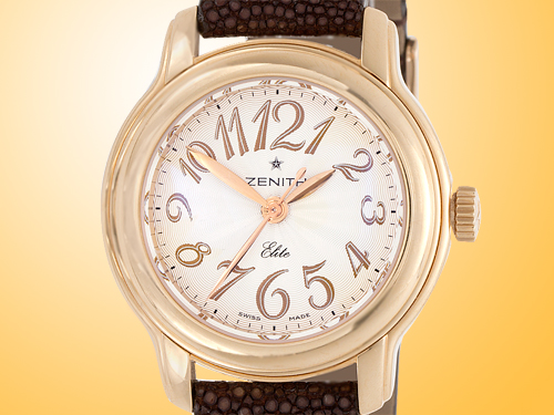 ZENITH Baby Doll Star Elite Automatic 18K Rose Gold Ladies Watch 18-1220-67-01-C528