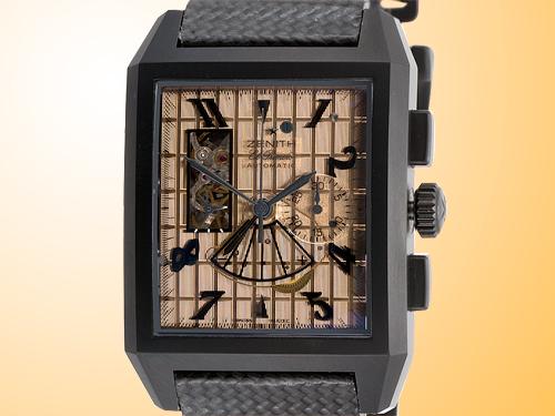 ZENITH Port Royal Open Concept Chronograph Men�s Automatic Titanium Watch 96-0551-4021-77-C550