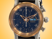 Cuervo Y Sobrinos Torpedo Pirata Chronograph Men's Bronze, Titanium, and Burnished Steel Automatic Watch 3051.5N