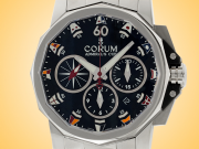 Corum Admiral's Cup Challenger 44 Black Dial Automatic Chronograph Watch 753.691.20/V701 AN92