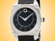 Movado Master Series Stainless Steel and Diamonds Ladies Watch 13-3-14-1056