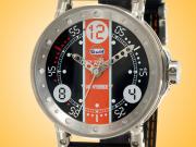 B.R.M V6 Gulf Edition Hybrid Movement Gulf Stainless Steel Men's Watch V6-44-HB-BG-GULF