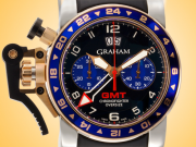 Graham Chronofighter Oversize GMT Automatic 18K Rose Gold / Stainless Steel Chronograph Men's Watch 2OVGG.B26A.K10S