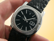 Bedat & Co. No. 8 Automatic Double Date Stainless Steel / Diamonds Unisex Watch