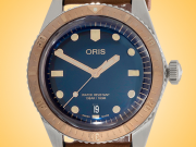 Oris Divers Sixty-Five 40 mm Blue Dial Automatic Bronze Stainless Steel Men's Watch 01 733 7707 4355-07 5 20 45