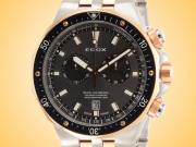 EDOX Delfin Chronograph Gold Tone / Stainless Steel Men's Watch Model: 10109 357RBUM NIR