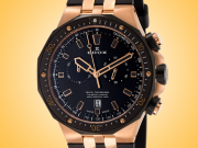 EDOX Delfin Chronograph Gold Tone PVD Stainless Steel Men's Watch Model: 10109 357RNCA NIRG