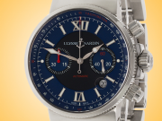 Ulysse Nardin Maxi Marine Men's Automatic Blue Dial Stainless Steel Chronograph 353-66-7/323