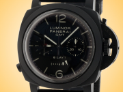 Officine Panerai Luminor 1950 Chronograph Monopulsante 8 Days Power Reserve GMT Ceramic Hand-wound Men's Watch PAM00317