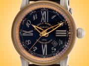 Cuervo Y Sobrinos Torpedo Pirata Bronze, Titanium, and Burnished Steel Automatic Men's Watch 3053.5N