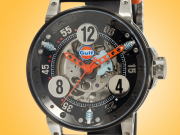 B.R.M Gulf Automatic Black PVD-coated Stainless Steel Men's Watch V6-44-SA-GULF