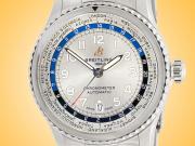 Breitling Aviator 8 B35 Unitime Worldtime Automatic Stainless Steel Men's Watch AB3521U01G1A