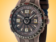 Perrelet Turbine Pilot Automatic Brown Dial DLC-coated Stainless Steel Men's Watch A1094/1A