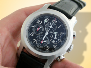 Cuervo Y Sobrinos Robusto Chronograph Moon Phase Stainless Steel Watch