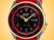 Seiko 5 X Street Fighter Limited Edition Ken Automatic PVD-coated Stainless Steel Watch SRPF20K1