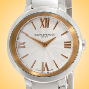 Baume & Mercier Promesse Rose Gold Tone and Stainless Steel Quartz Ladies Watch MOA10159