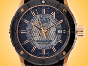 "EDOX ""CO-1"" Automatic Rose Gold PVD Stainless Steel Men's Watch Model: 80099 37R NIR"