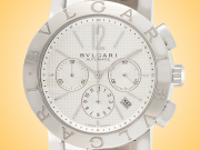 Bvlgari BB Collection Silver-tone Dial Automatic Chronograph Stainless Steel Men's Watch BB42WSLDCH