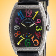 Franck Muller Cintree Curvex Color Dreams Diamonds Stainless Steel Ladies Watch 2852 QZ COL DRM D 1R