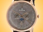EDOX Les Vauberts Calendar Rose Gold PVD Stainless Steel Men's Watch Model: 40101 37RC GIR