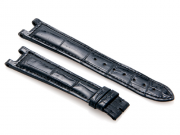 Cartier Black-Colored Shiny Genuine Alligator Strap 110 x 80 mm
