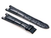 Cartier Black-Colored Shiny Genuine Alligator Strap 110 x 80 mm