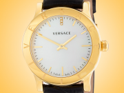 Versace Acorn Yellow Gold-tone Stainless Steel Ladies Watch Model: VQA060017