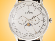 EDOX Les Vauberts Calendar Stainless Steel Men's Watch Model: 40101 3C AIN
