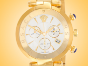 Versace Revive Chronograph Yellow Gold Plated Stainless Steel Watch Model: VAJ060016