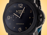 Officine Panerai Luminor 1950 Tuttonero GMT Black Ceramic Automatic Men's Watch PAM00438