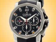 Corum Admiral's Cup Challenger 44 Black Dial Automatic Chronograph Watch 753.691.20/F371 AN92
