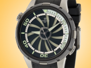 Perrelet Turbine Diver Automatic Stainless Steel PVD-Coated Men's Watch A1067/1