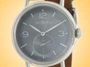 Bell Ross Vintage WW1 Argentium Ruthenium Manually Wound Stainless Steel Men's Watch BRWW1-ME-AG-RU/SCR