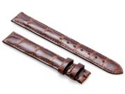 Cartier Lacquered Brown-Colored Alligator Leather Strap 115 x 85 mm