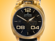 "Anonimo Militare Bronze Case Black ""Scratched"" Dial Men's Automatic Watch AM-1020.04.001.A01"