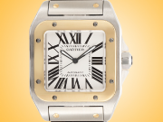 Cartier Santos 100 XL 18K Yellow Gold / Stainless Steel Automatic Men's Watch W20072X7