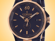 Corum Admiral's Cup Legend 42 Automatic 18K Rose Gold and Blue PVD Stainless Steel Men's Watch 395-101-34-V705-AB11